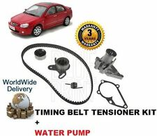 FOR KIA CERATO 1.6 2/2004-- ON NEW TIMING CAM BELT TENSIONER KIT & WATER PUMP