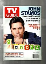 TV GUIDE-9/2015-JOHN STAMOS-THE LEFTOVERS-THE WALKING DEAD-NO MAILING LABEL