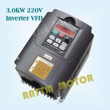 3KW 220V 4HP Inverter VFD 400Hz Variable Frequency Drive For CNC Milling Machine