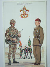 MILITARY POSTCARD-THE KING'S REGIMENT BY DOUGLAS N ANDERSON