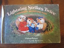 Vintage Fisher Price Woodsey Squirrel Family tree Book Lightning Strikes Twice