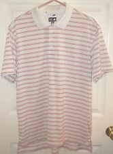 Mens ADIDAS~Striped POLO SHIRT~NEW~size MEDIUM~$50 CLIMALITE Rugby GOLF Top NWOT