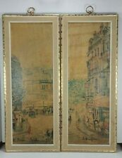 Set of 2 Vintage Retro TURNER WALL ACCESSORY Paris Prints Maurice Utrillo 22""