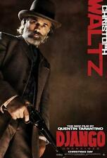 Django Unchained Christoph Waltz Double Sided Original Movie Poster 27x40 inches