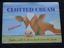 Clotted Cream VACHE METAL SIGNE beurre fromage de lait frais de la ferme-British