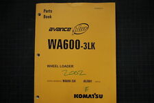 KOMATSU WA600-3LK WHEEL LOADER Parts Manual Book Catalog spare 2002 shop list