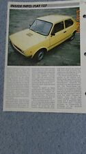 Fiat 127 C CL + sport, 71 - 80 car data info sheet spec history pic car fix it