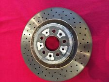 Ferrari 360 Modena Front Brake Disc Rotor Drilled Surfaced Set of 2 OEM #182606