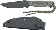 Tops TP33 Knives Fixed Knife Carbon Steel Black Finish Micarta Handle Dawn Warri