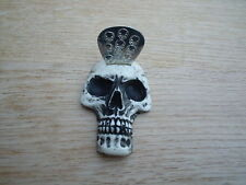 guitar pick  plectrum holder  with free skull pick skull custom made