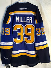 Reebok Premier NHL Jersey ST. LOUIS Blues Ryan Miller Blue sz XL