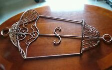 GORGEOUS ~ IRON PLANT HANGER ~ WALL MOUNT ~ HEAVY CRAFTED METAL WORK ~ QUALITY