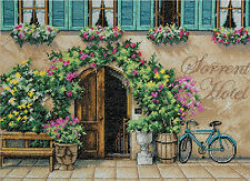 Cross Stitch Kit ~ Dimensions European Sorrento Hotel Floral Arch #70-35270