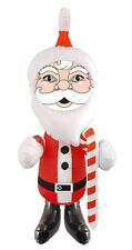 INFLATABLE SANTA 67CM CHRISTMAS DECORATION BLOW UP FESTIVE GIFT NEW TOY KIDS FUN