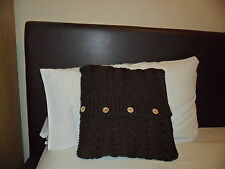 "Hand Knitted 14"" cushion cover (pad not included)"