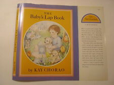 The Baby's Lap Book, Kay Chorao, Dust Jacket Only