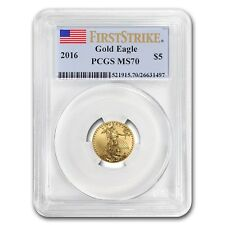 2016 1/10 oz Gold American Eagle MS-70 PCGS (First Strike)