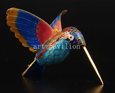 CLOISONNE CRAFT HUMMINGBIRD LOVELY GIFT ORNAMENT PENDANT COLLECTABLE OLD DECORAT