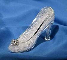 New Crystal World Glass Slipper Shoe Figurine Filled with Crystals 4""
