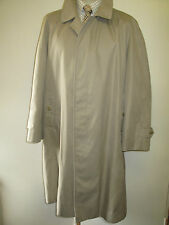 "Genuine Vintage Burberry Prorsum Light Brown Raincoat Coat Mac Size 44"" Euro 54S"