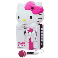 NEW HELLO KITTY CD+G/MP3 Karaoke System Color Camera Recording SD USB Bluetooth