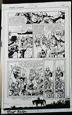 CREATURE COMMANDOS #8 PAGE 21 2000 ORIGINAL ART-BY SCOT EATON & RAY KRYSSING