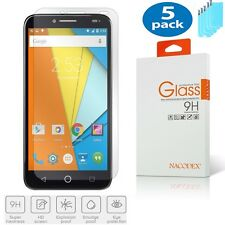 5x Nacodex For Alcatel One touch Fierce XL [Tempered Glass] Screen Protector