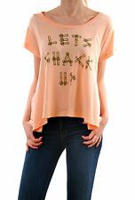 WildFox Brand New Women's Let's Shack Up T-shirt Pink Size S Short Sleeve BCF55