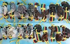 US SELLER - 15 pcs rasta reggae bracelets wholesale jewelry lot with imitation