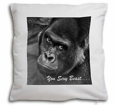 Gorilla 'You Sexy Beast' Soft Velvet Feel Scatter Cushion Christmas G, AM-12-CPW