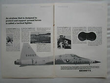 1/1965 PUB NORTHROP F-5 USAF US AIR FORCE TACTICAL FIGHTER ORIGINAL AD