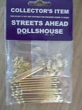 Dolls House Miniatures 1;12th Scale Stair Rods 15 Rods & 30 Brackets New