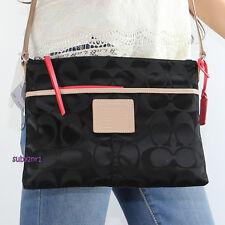 NWT Coach Legacy Weekend Signature Nylon Hippie Crossbody Bag 24861 Black NEW