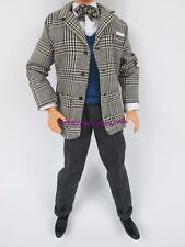Frank Sinatra KEN Doll HOUNDSTOOTH Suit Coat Vest Bow Tie Barbie Fashion Outfit