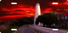 airbrushed aluminum Ocracoke Lighthouse beautiful car tag  license plate