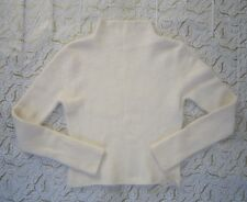 twiggy Beautiful Soft Angora Blend Turtle Neck Vanilla Sweater ~ Size M ~ NWT