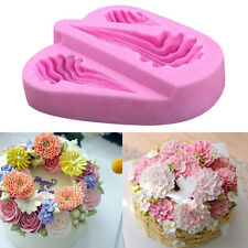 DIY Pink 3D Silicone Flower Fondant Cake Decorating Mold Chocolate Mould