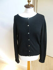 W pure cashmere vintage black button through  cardigan  size M