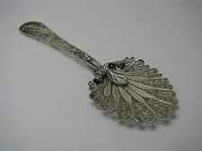 STERLING SILVER SPOON FILIGREE SOUVENIR SPOON Middle East Palestine 1920-40 Rare