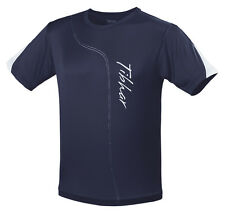 TIBHAR SEAM TABLE TENNIS T-SHIRT LARGE NAVY