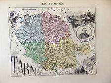 LA FRANCE ET SES COLONIES DÉPARTEMENT DU TARN EDT 1874 VOIR DETAIL