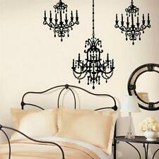 Chandelier Wall Decal Black Droplight Ceiling Lamp LARGE Stickers Teens Bedroom