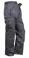 Portwest Classic Work Wear Action Trousers with Zip Pockets, Black or Navy