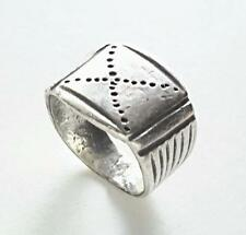 Antique Moroccan Berber Hand Made niello SILVER RING tribal jewelry