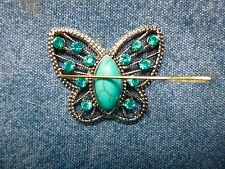 Stunning Turquoise Butterfly Needle Minder Gift Packaged Neodymium Cross Stitch
