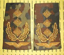 Schulterklappen Rangabzeichen Lw Generalleutnant gold Flecktarn NEU ##F887