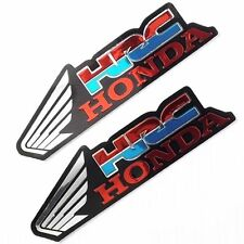 2  HONDA  RACING FOIL DECALS IN BLUE / RED / SILVER ,FREEPOST UK.