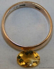 NATURAL YELLOW CITRINE LOOSE GEM 6X8 FACETED OVAL CUT 1.15CT GEMSTONE CI8A