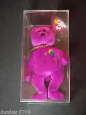 1999 MILLENIUM THE BEAR TY BEANIE BABY PE PELLETS MADE IN CHINA PLUSH WITH TAGS
