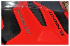TUFSKINZ | Polaris Slingshot Raised Hood Letters - Raw Carbon Fiber